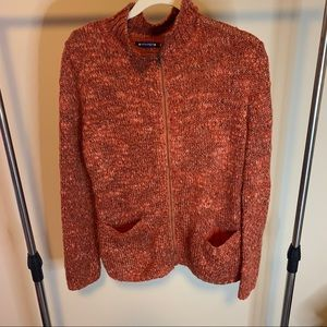 3/$20 Architect Rust Color Full Zip Knit Sweater